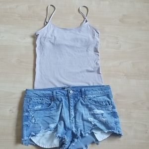 American Eagle Outfitters Grey Tank Top